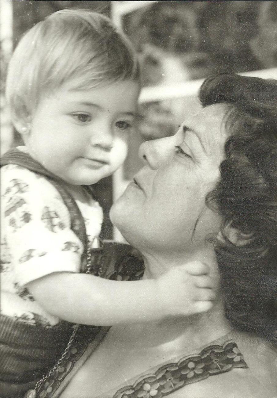 My grandmother and I in the early 70s