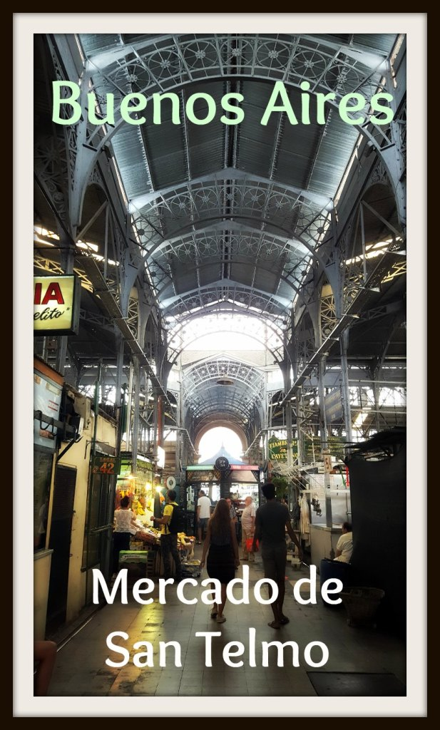 The Mercado de San Telmo is a historic market located in the Buenos Aires neighborhood of San Telmo. Traders sell everything from fresh produce to antiques. Argentina