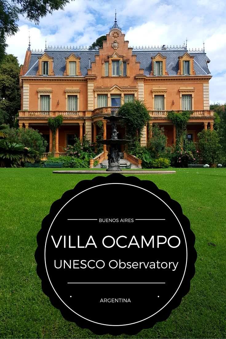 Villa Ocampo UNESCO Observatory of Arts in Buenos Aires. The house belonged to Victoria Ocampo, an Argentinena author, feminist and publisher.