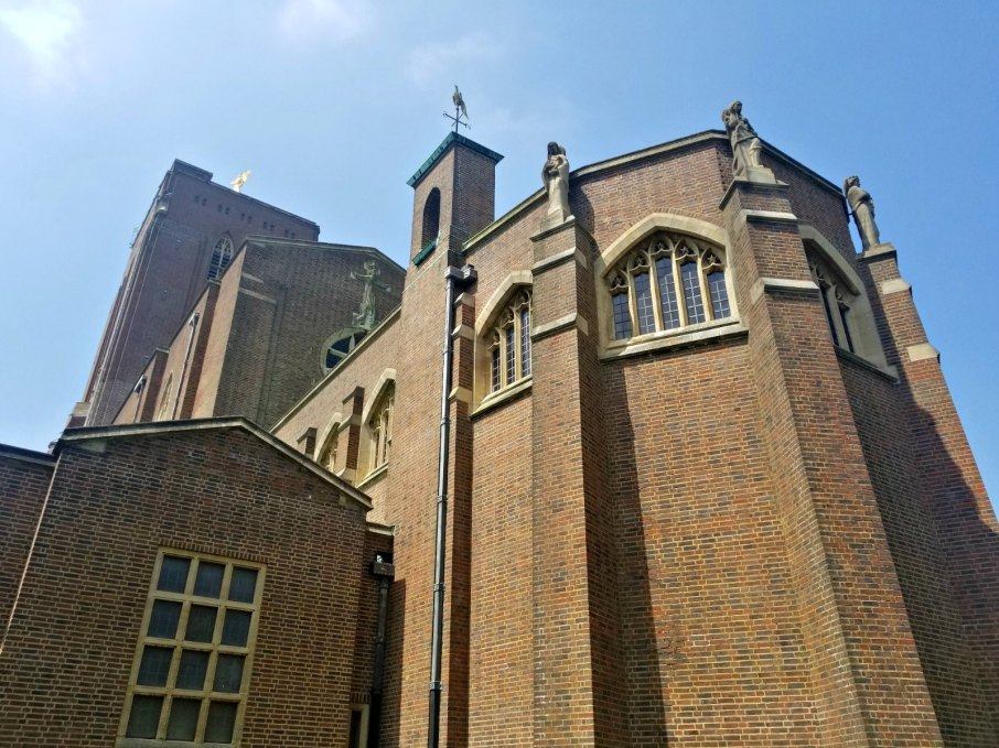 Guildford Cathedral, a magnificent modern building with classical Gothic lines, commands sweeping views from the top of the Hill #Guildford #England #travel