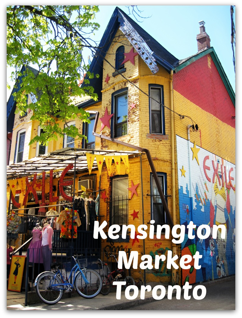 Kensington Market is Toronto's most fun and quirky open air market. The shops sell everything from Indian silk scarves to cheeses from around the world.