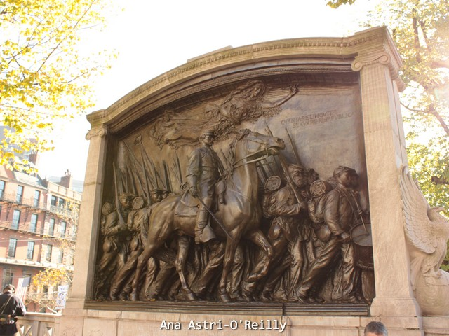 The pretty bronze frieze