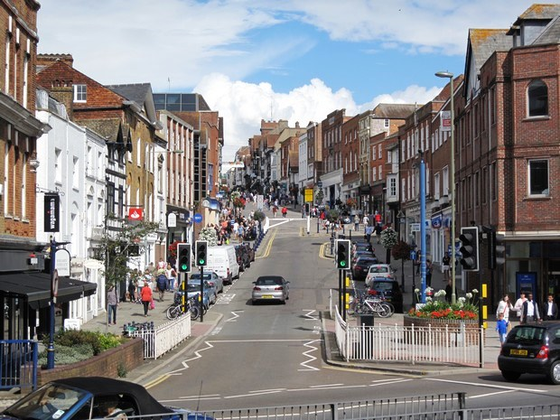 History walk with The Guildford Town Guides, voluntary guides who take visitors on themed walks around Guildford. #England #Guildford #travel