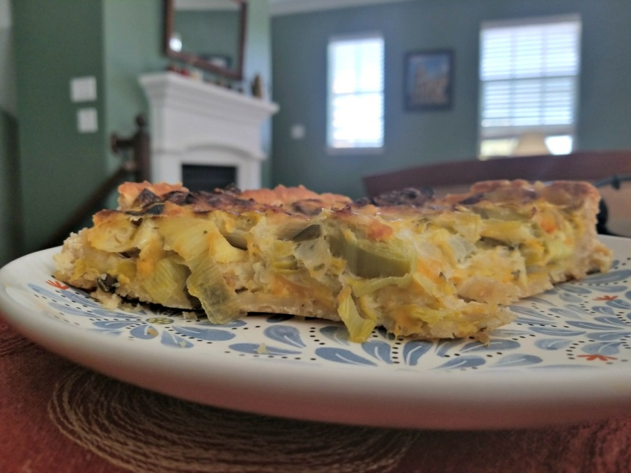 Argentina food: leek quiche