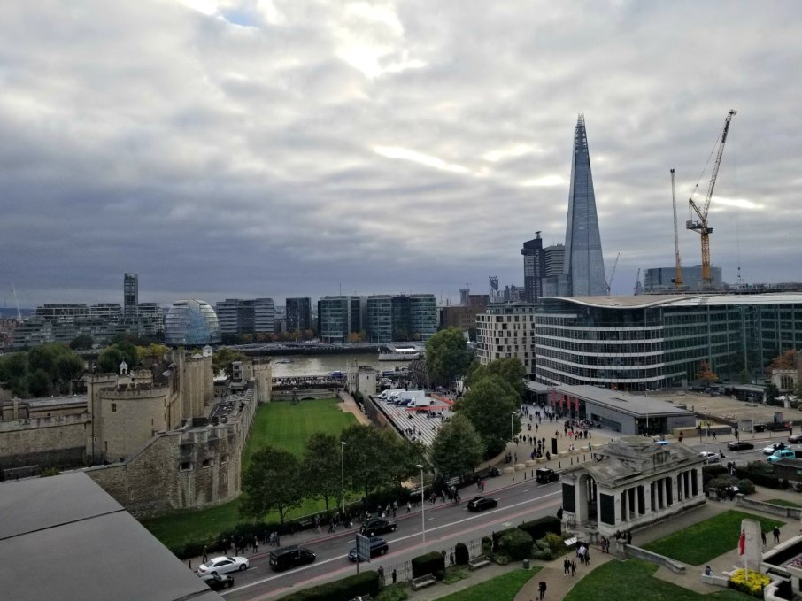 View from bar. citizenM Hotel Tower Bridge, London