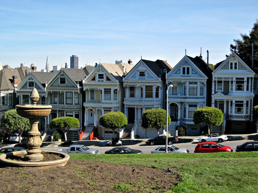 San Francisc - Alamo Square & Painted Ladies