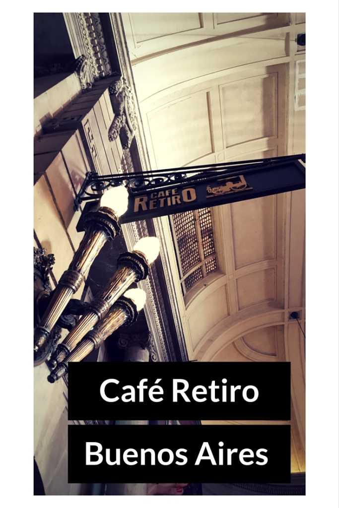 Café Retiro is located inside Retiro Station and is a wonderful example of an elegant  turn-of-the-century café of Buenos Aires.