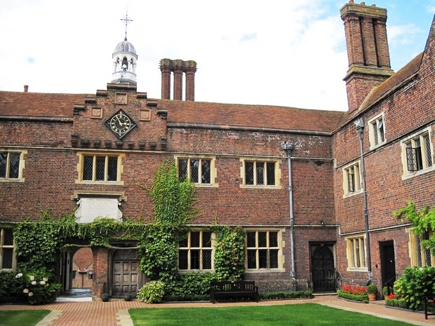 The quadrangle at Abbott's Hospital, which is not an actual hospital but a home.