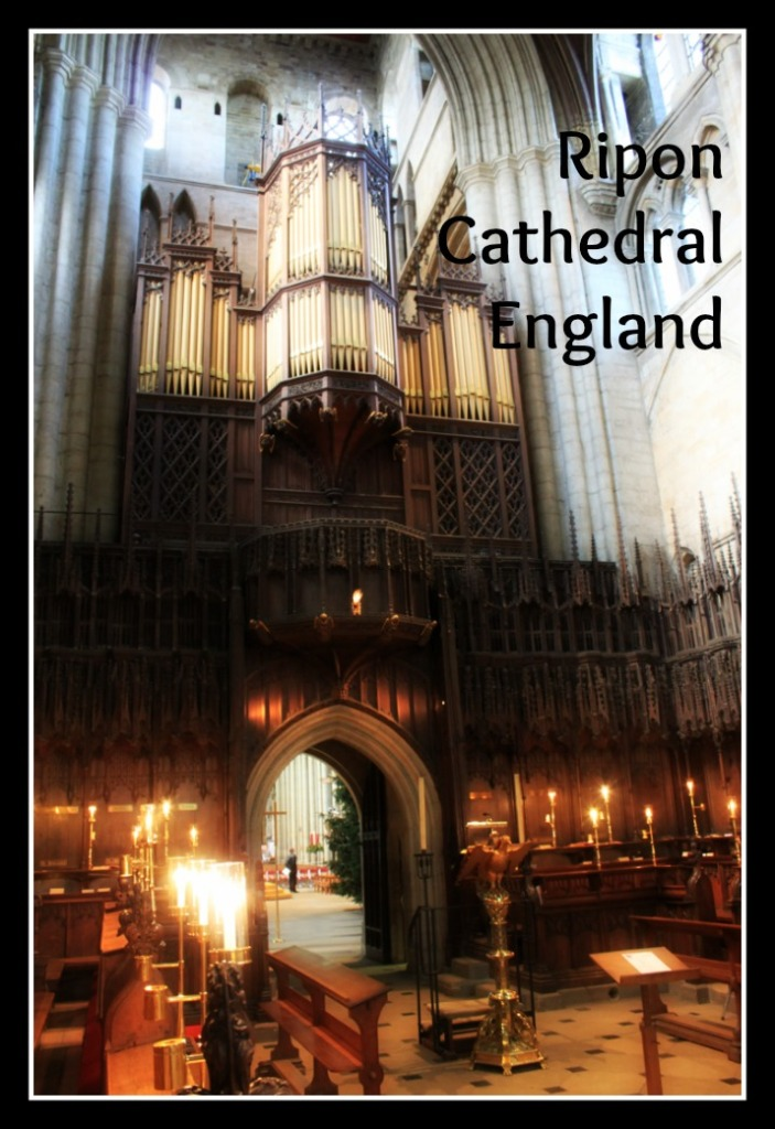 Ripon Cathedral, located in North Yorkshire, England, has some connections with Lewis Carroll, as well as being a magnificent medieval construction.